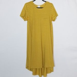 LuLaRoe Gold Dress Size Medium